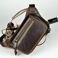 causual waist packs bolsas couro genuine leather fanny pack Fashion man small travel  waist wallet bags for men waist bags