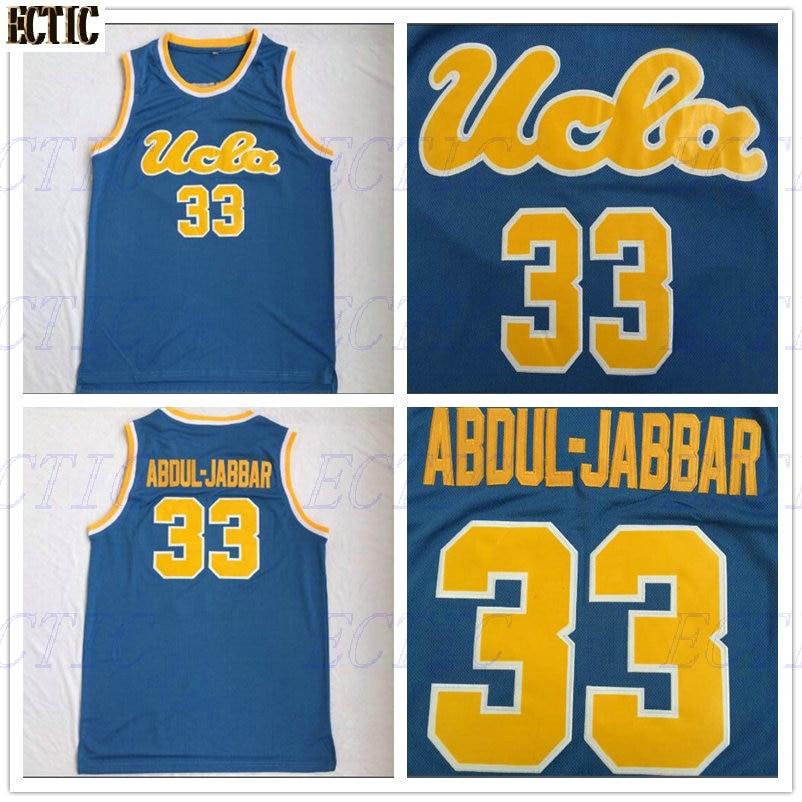 5fd901d99 2018 UCLA Bruins 33 Kareem Abdul Jabbar College Basketball Jerseys  Throwback Stitched University Basket Shirts Light Blue