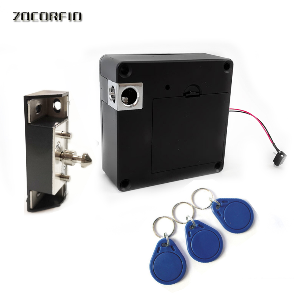 The Newest DIY Hidden  13.56MHZ  Electronic RFID Locker Lock For Home Office Private RFID Drawer/wardrobe Cabinet Lock