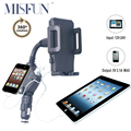 Universal Dual 2 Port USB Car Charger Adapter Phone Charging Mount Stand Holder For Samsung Galaxy S6 Iphone 5S 6 6S 7 plus Sony