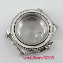 40mm parnis Sapphire Glass Watch Case fit 2824 2836 Movement