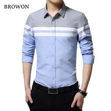 2018 Fashion Mens Shirts Brand Clothing Slim Fit Patchwork Stripe Clothes Male L