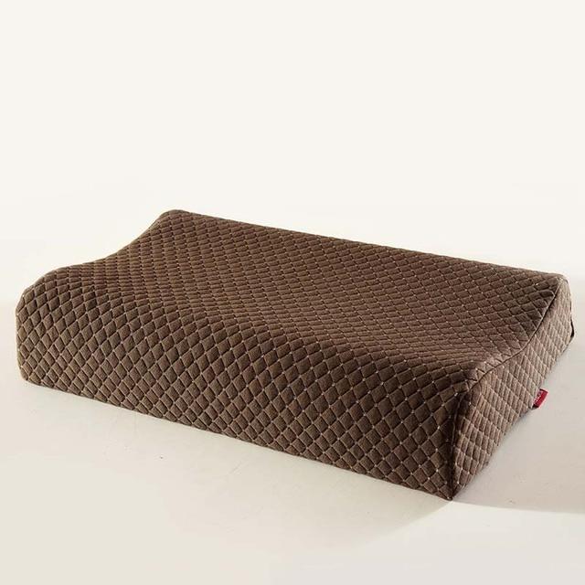 Almohada de masaje de memoria de látex natural almohadas de cuello para dormir almohada de apoyo de dormitorio para adultos envío gratis