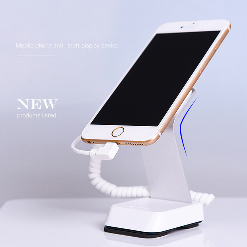 Mobile cell phone security display stand holder alarm charging anti theft device work for Apple,Andriod,Samsung retail shop cell phone security anti theft display stand with alarm and charging function for mobile phone retail store exhibition 10pcs lot