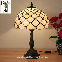 TUDA 30X46cm Free Shipping Vintage Stained Glass Lampshade Table Lamp Tiffany Style Table Lamp Retro Home Decor Table Lamp E27