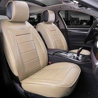 Luxury PU Leather Auto Car Seat Cover 2 Front Back Seat Protector Universal Car Accessories Interior