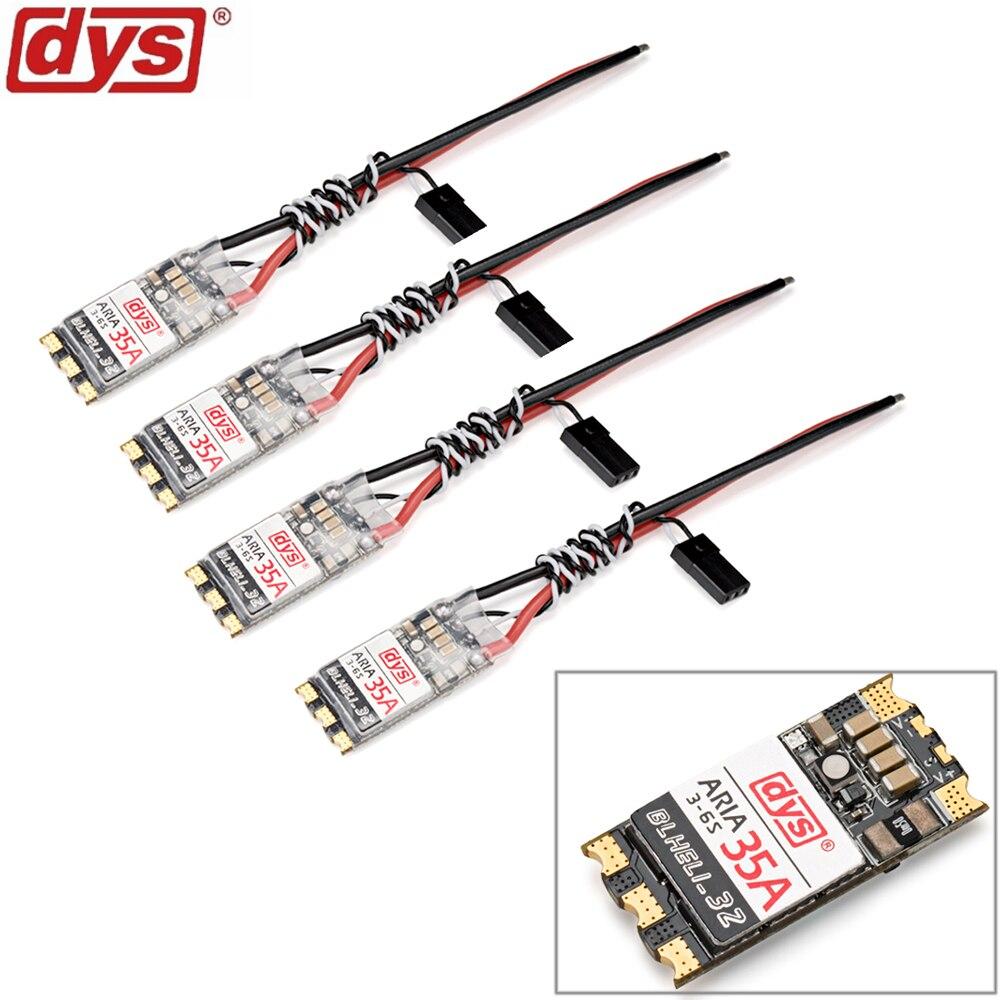 4 pz Originale DYS Aria BLHeli_32bit 35amp 35A Brushless ESC 3 6 S Dshot1200 Ready Built In Sensore Misuratore di Corrente-in Componenti e accessori da Giocattoli e hobby su  Gruppo 1