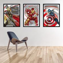 Avengers Superhero Poster Wall Art Movie Poster Home Decor Painting Home Decor living No Frame canvas painting K199(China)