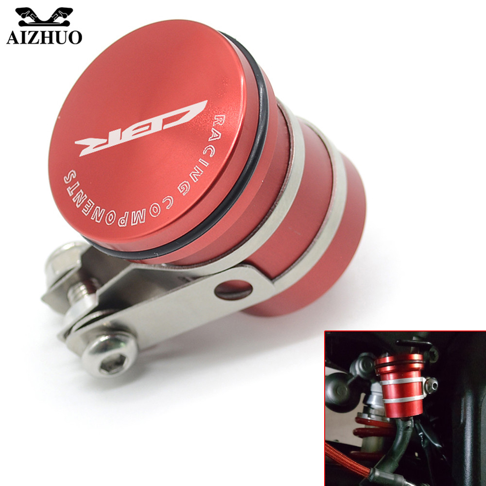 Oil Fluid Cup For HONDA CBR 250R 900RR CBR125R CBR300R 929RR 600RR 954RR Universal Motorcycle Brake Fluid Reservoir Clutch Tank universal motorcycle brake fluid reservoir clutch tank oil fluid cup for kawasaki z1000 z800 z300 zzr1400 versys 650 er 4n er 6n