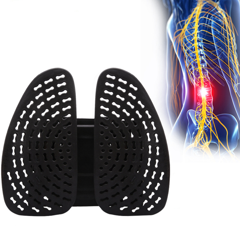 JORZILANO Health Care Body Massager Car Pillow Meridian Therapy Waist Lumbar Massage Cushion Back Brace Support Relaxation Waist car electric massage cushion lumbar posture support cushion pillow red black