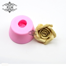 New 3D Rose Fondant Silicone Mould Sugar Candy Chocolate Cake Decorating DIY Sugar Craft Tool small chocolate candy coating machine sugar coated pan