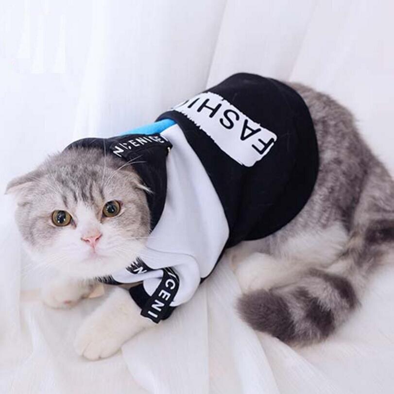 Clearance XS Autumn Winter Pet Cat Hoodies hip hop Coat Dog Clothes Teddy dog Clothing