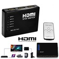 5-Port Switch HDMI Switcher Selector Splitter + Remoto; Conectar 5 dispositivos para HDTV