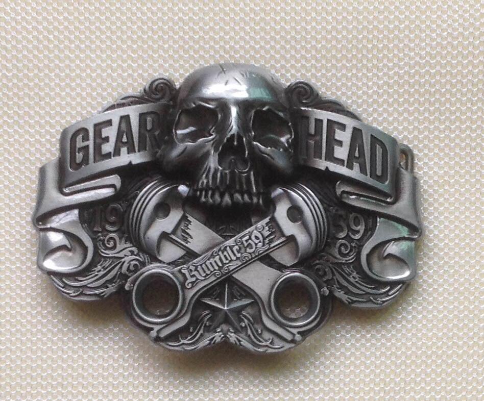 Hebilla de cinturón de Metal de los hombres del cráneo SW-BY217 adecuada para el cinturón de 4 cm con stock continuo envío gratis