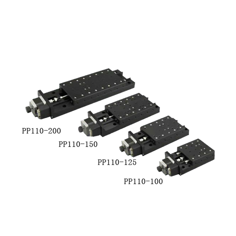PP110-100/125/150/200Precision Motorized index rotary table, Precision Motorized Angle adjustment stage toothed belt drive motorized stepper motor precision guide rail manufacturer guideway