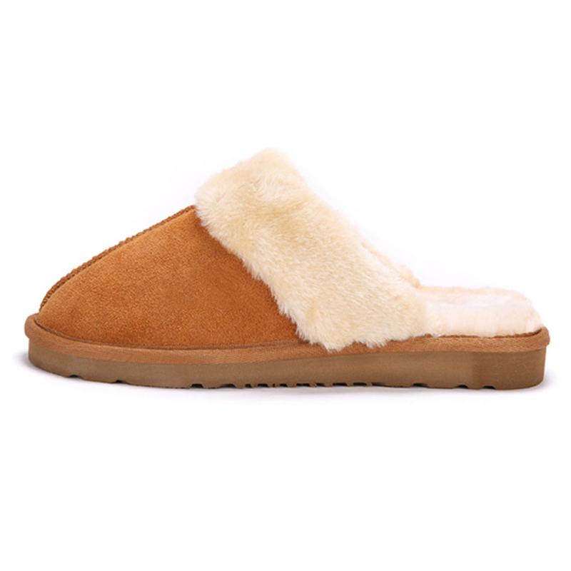 9cd9db52d44ac 2016 Hot Sale Luxury Winter Plush Leather Furry Flip Flops House Fuzzy Fur  Soft Bedroom Australian Slippers for Women no ug Anti-in Slippers from  Shoes on ...
