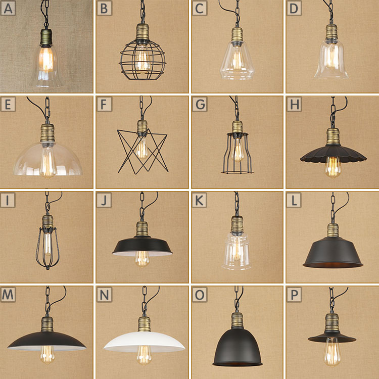 American Industrial Style Country Retro Corridor Bar Restaurant Chain Chandeliers Creative Personality To Do The Old Glass Lamps