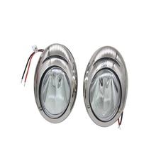 1 paar LED Marine Weiß Licht Edelstahl Rumpf Seite Oberfläche Montieren Docking Zurück Up Licht 12 V DC ITC Marine Zubehör