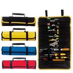 Multi-função caixa de ferramentas saco carretel tipo carpintaria eletricista reparação lona portátil armazenamento instrumento caso