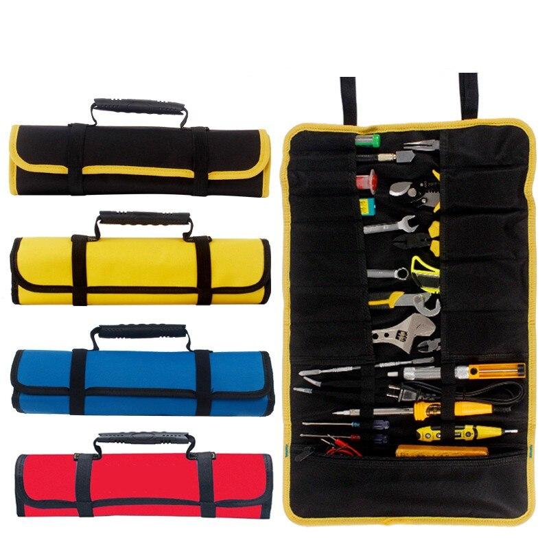 Multi-funktion Werkzeug box Tasche reel art Holzbearbeitung Elektriker reparatur leinwand tragbare speicher instrument Fall