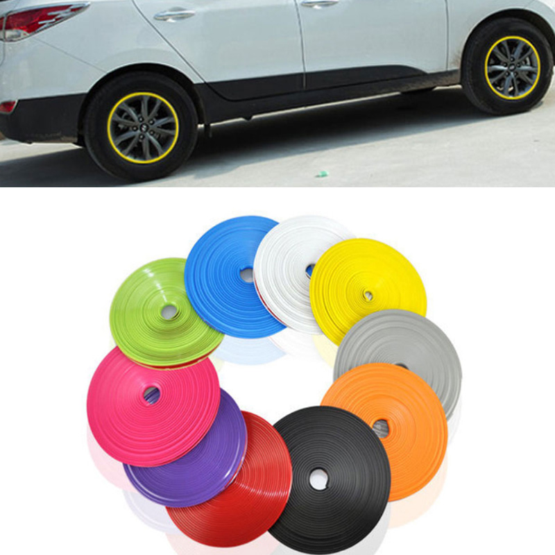 8 Meters/Roll Car Styling Rim Wheel Hub Sticker Protector For Renault KWID Laguna Latitude Logan Megane RS Safrane Sandero