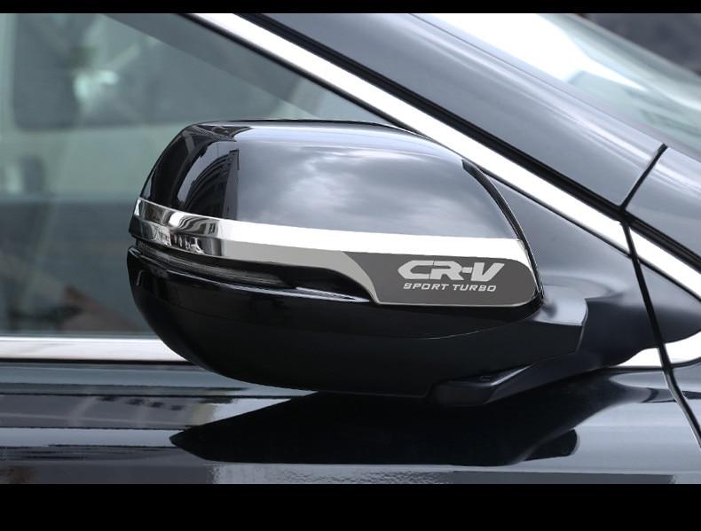 2PCS/set For HONDA CRV CR-V 2017 2018 Exterior Decoration Car Styling Chrome Door Rearview Mirror Trim Cover Sticker