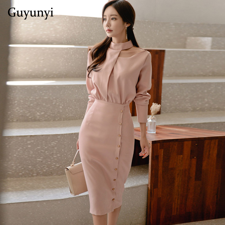 New Women Turtleneck Office Lady Dress Fashion Sexy Attractive Elegant Midi Bodycon Vestidos Celebrity Party Dress Clubwears