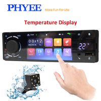 4 1 Din Autoradio Bluetooth Car Radio Stereo Touchscreen Audio Video Player Head Unit USB SD Aux A2DP ISO Unit PHYEE VX3006BT