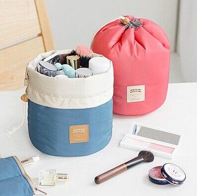 2pc módní kosmetické organizér taška dámské kosmetické tašky velké barel esenciální olej taška cestovní úložiště taška ženy make-up organizátor