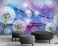 beibehang wallpaper 3d on the wall Mural Custom wall sticker dandelion wallpaper wall 3d home decor living room TV background beibehang custom wallpaper mural 3d blue flower hotel living room wall 3d wallpaper wall sticker wallpapers for living room