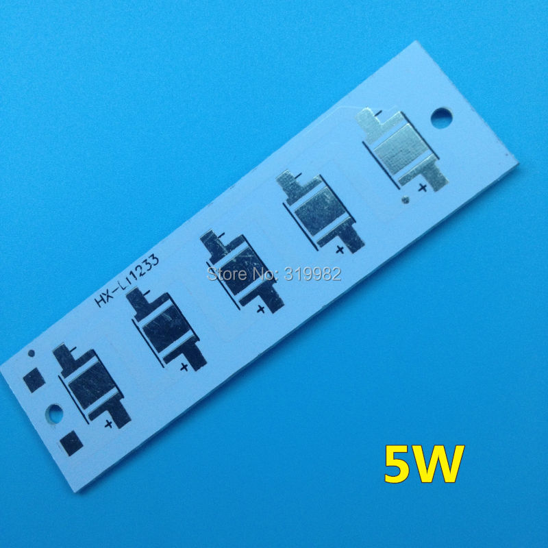 5pcs LED Rectangle aluminium base plate 3W 5W high power radiator Use for LED Lamp chip White PCB Board