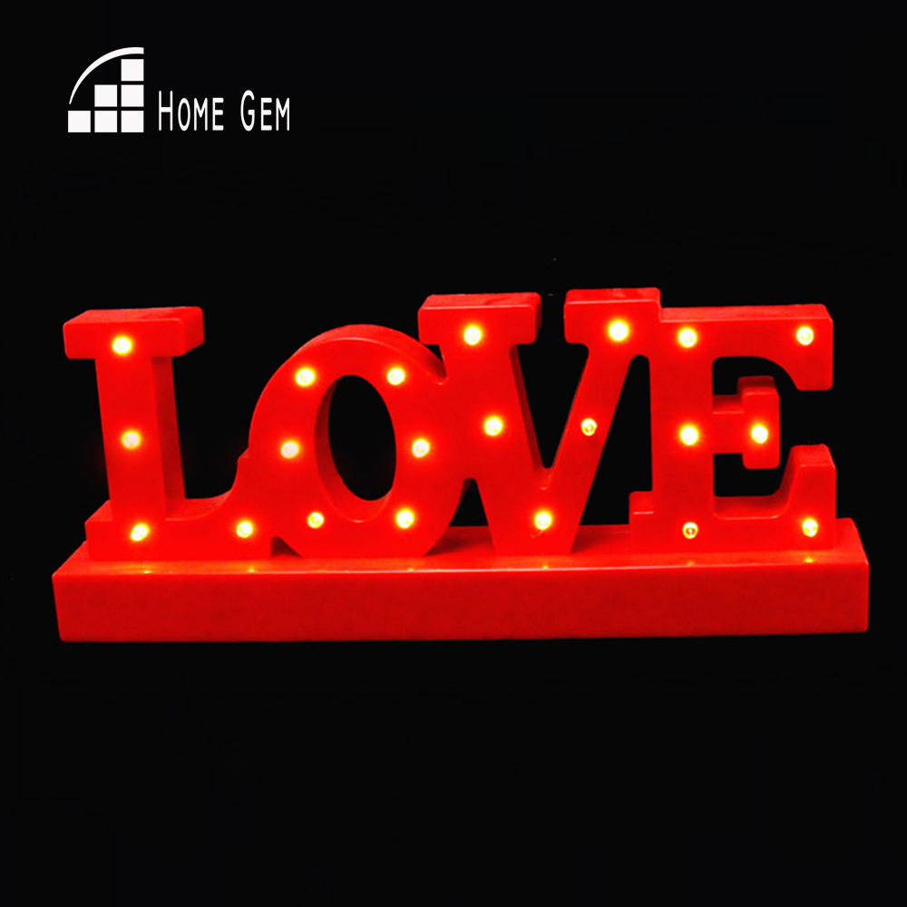 12wide mini White red plastic LOVE LED Marquee Sign LIGHT UP Adhesive LOVE letter night light valentine's Day mini camera style white light plastic keychain red black silver 3 x ag13