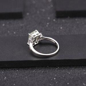Image 4 - GEMS BALLET 925 ensemble de bijoux en argent Sterling pour les femmes naturel octogone vert améthyste boucles doreilles anneau pendentif ensemble de beaux bijoux