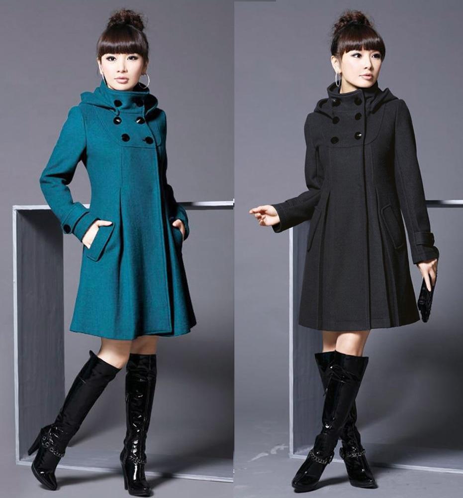 Las Invierno Moda De Para Capucha 2016 Con Mujer Abrigo Oxq7xw8H