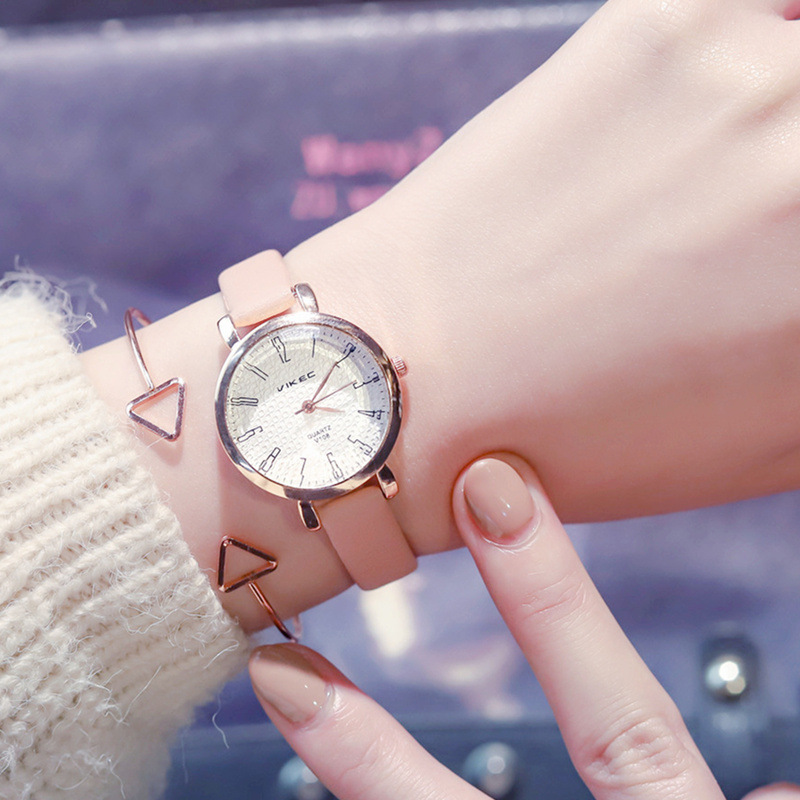 Exquisite Women's Fashion Quartz Leather Watches Ladies Dress Wristwatches Relogio Feminino Simple Female Watch Montre Femme