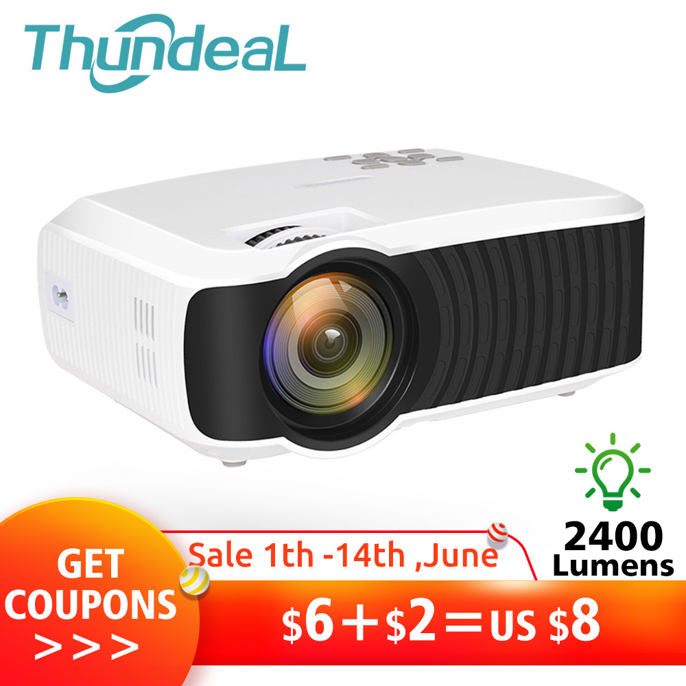 Thundeal T23k Mini Projector  Portable Video Hd T4 Mini Beamer Hdmi Vga Home Theater Optional T22 Projector