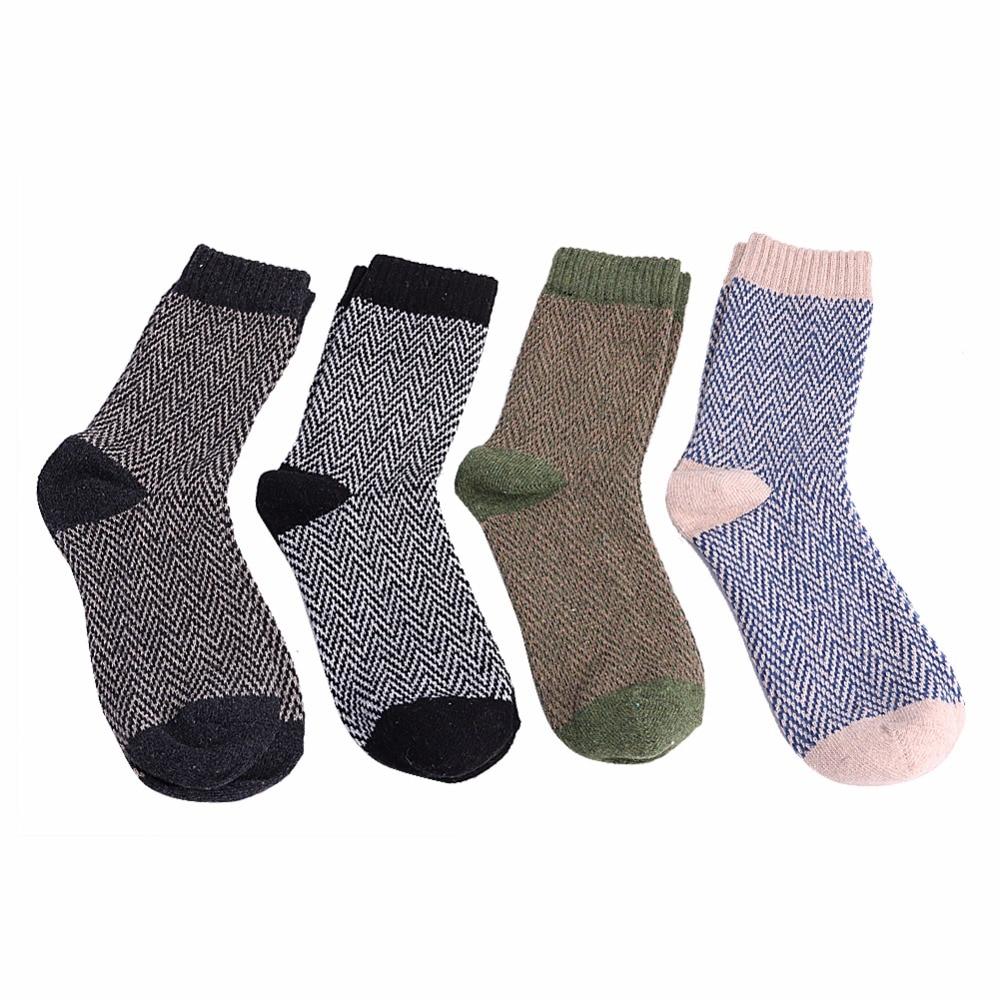 4 Pairs Mens Warm Winter Thick Wool Mixture Angora Cashmere Casual Dress Socks
