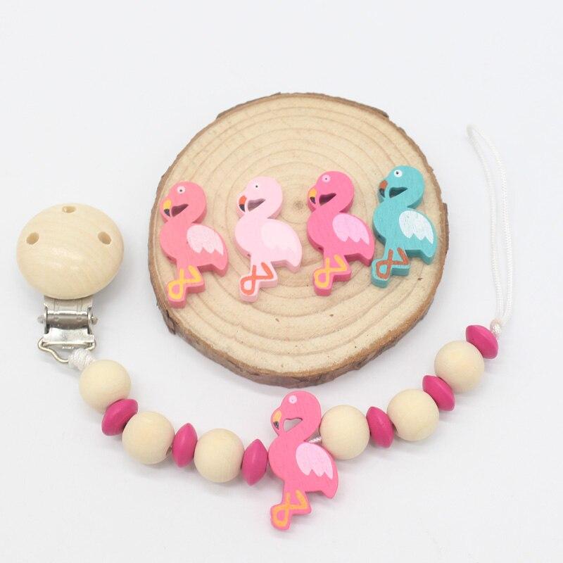 10 Stück farbige Drei-Loch-Holzring Beißring für Baby Beißring Spielzeug