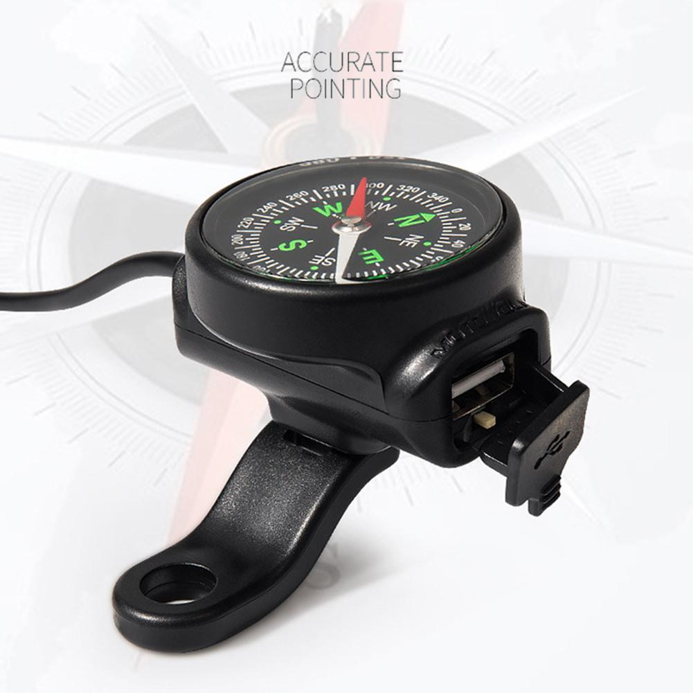 Image 3 - Motorcycle Mobile Phone Charger USB Waterproof Switch Car Charger With Compass USB 12 80V Universal Wholesale Purchasing-in Chargers & Service Equipment from Automobiles & Motorcycles
