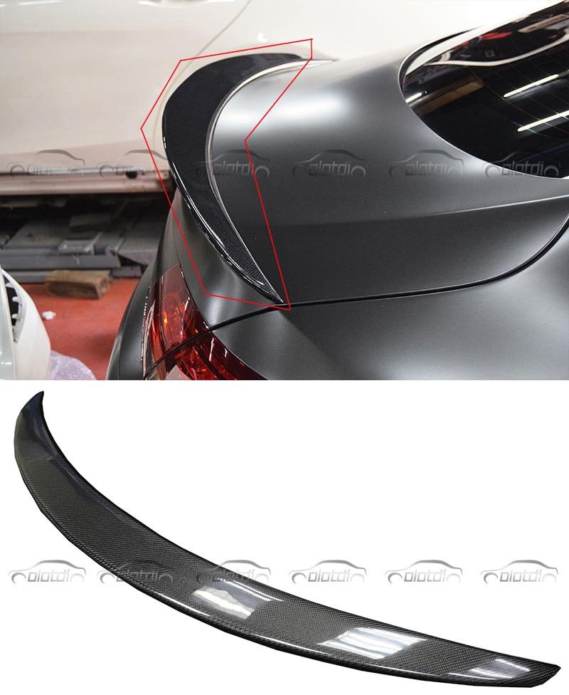 Style de voiture W205 Coupe 2 portes Style P fibre de carbone arrière coffre lèvre Spoiler ailes séparateur pour Mercedes classe C accessoires de voiture