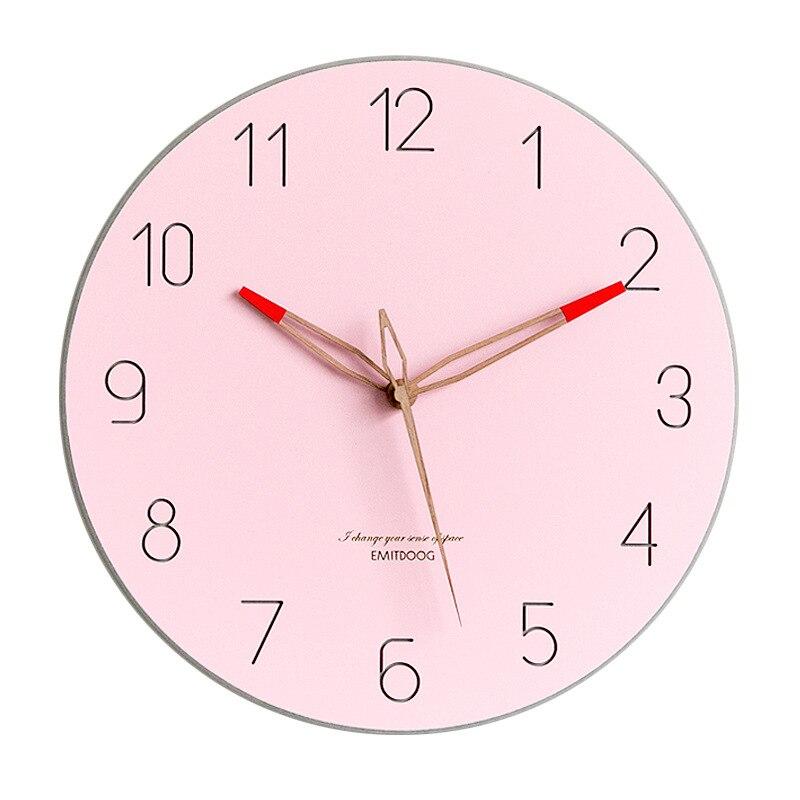 Bref Style grande horloge murale Design moderne montre nordique mouvement Quartz silencieux horloges en temps réel tenture murale décor à la maison pour la vie - 5