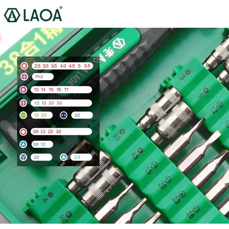 Sada šroubováků LAOA 38 v 1 Přesná sada bitů šroubovák - Sady nástrojů - Fotografie 2