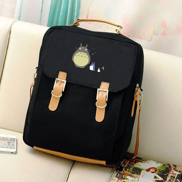 Canvas Preppy Backpack Miyazaki Hayao Hot Anime Totoro Mochila Women Backpacks Students School Bags for Teenagers Girls