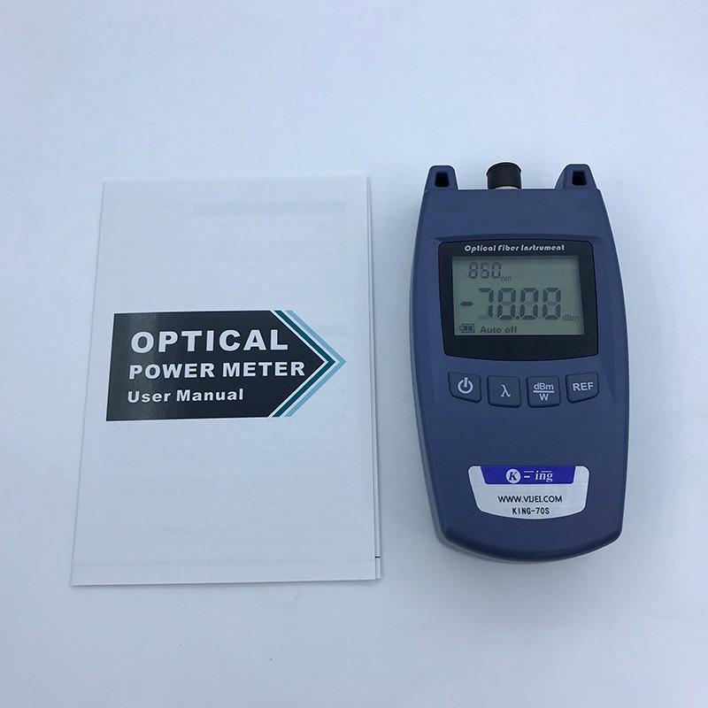 Image 3 - FTTH мини измеритель оптической мощности King 70S Тип OPM  волоконно оптический кабель тестер 70dBm ~   10dBm SC/FC универсальный  разъем интерфейса-in Оптоволоконное оборудование from Мобильные телефоны  и телекоммуникации on