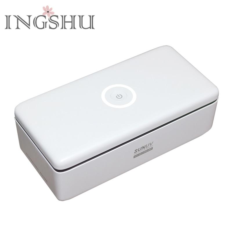 INGSHU SUNUV S2 UV Sterilizer Box Smart UV Disinfection for Nail Art Tools Salon/Home Use Portable Storage Sterilizer Tools цены