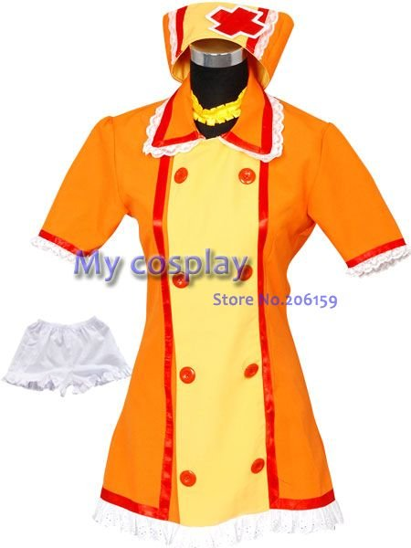Anime vocaloïde Cosplay Kagamine Rin sexy pas cher femme de chambre cosplay robe pour filles femmes halloween costume vêtements infirmière uniforme