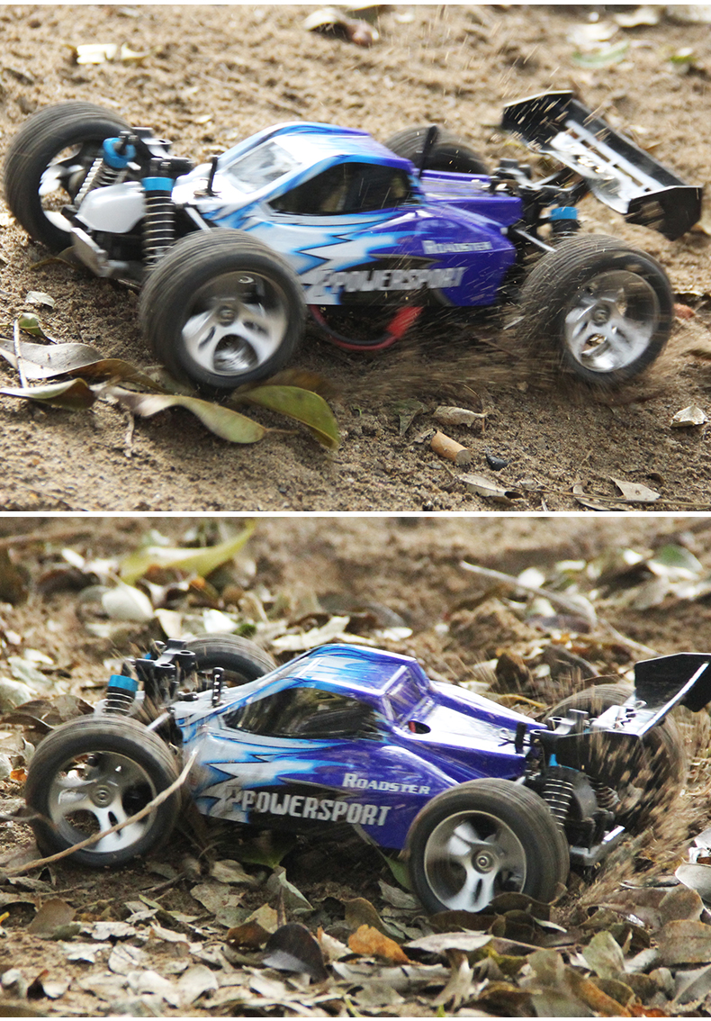 A959 2.4G Radio Remote Control RC Car  Scale 1:18 New Shockproof Rubber wheels Buggy Highspeed Off-Road Free shipping new hsp baja 1 8th scale nitro power off road buggy rtr camper 94860 with 2 4ghz radio control rc car remote control toys