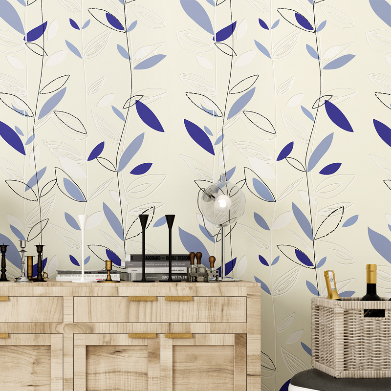 high quality luxury leaf 3d wallpaper new trending flocking wallpapers roll modern mural papel de - Trending Wallpaper