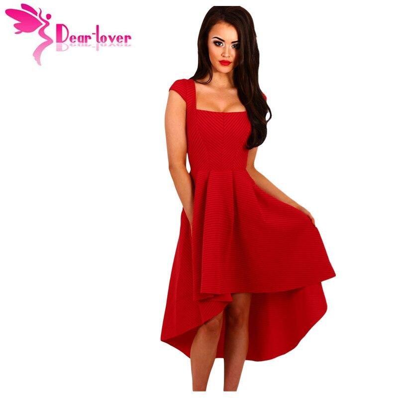 Dear Lover Fashion Ladies European Evening Party Wear Red