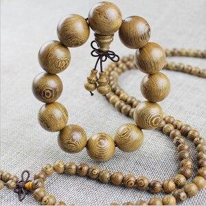Image 2 - Yanqi chicken wing wood Buddhist Prayer Beads Tibetan Mala Buddha Bracelet Rosary Wooden Bangle women men jewelry pulseira